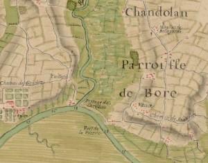 Carte-du-cours-de-la-Riviere-de-Charente-depuis-le-Port-de-Lome-1750-Bore