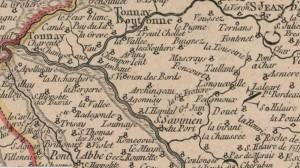 Gouvernemens-generaux-du-Poitou-du-pays-d-Aunis-et-de-Saintonge-Angoumois-Vaugondy-1753-Saint-Vivien-des-Bords