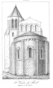 Gravure de l'église Saint-Vivien de Bords